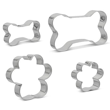 Amazon.com: Juego de 4 cortadores de huesos y huellas para ...