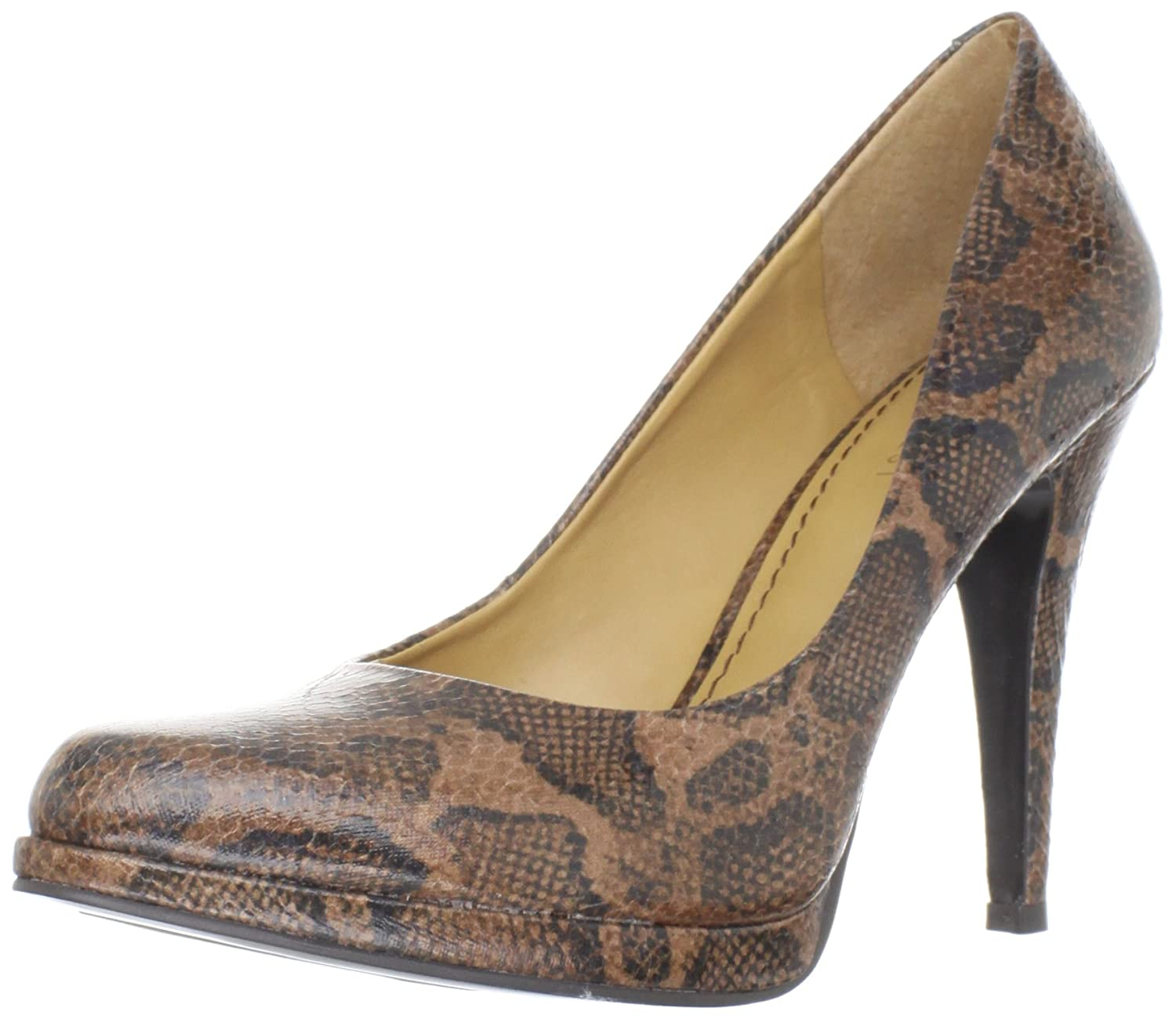 3a27bc1bb Amazon.com | Nine West Women's Rocha Pump, Dark Brown/Multi Manmade, 10 M  US | Pumps