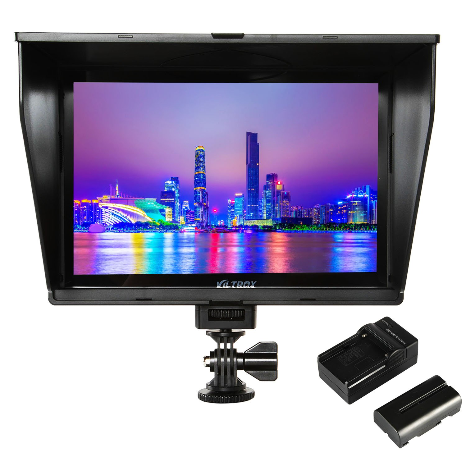 VILTROX DC-90HD 4K HDMI Monitor Full HD 1920x1200 IPS 8.9'' Clip-on LCD Camera Video Monitor Display HDMI AV Input for Canon Nikon DSLR BMPCC, Battery with Charger(Included) by VILTROX