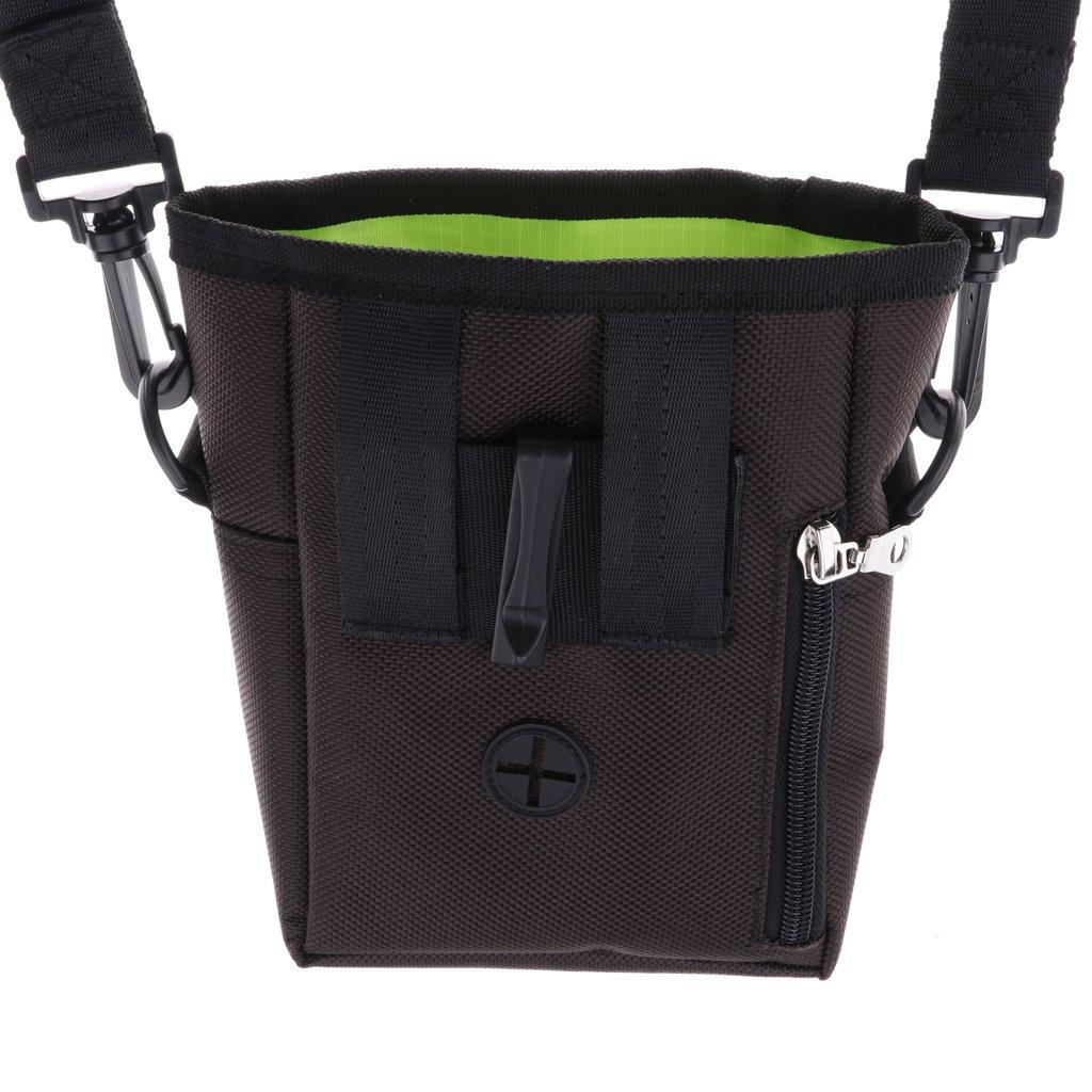 B Blesiya Dog Treat Training Pouch Hands Free Training Waist Bag Carries Toys Food Balls Keys Training Accessories - Brown by B Blesiya (Image #8)