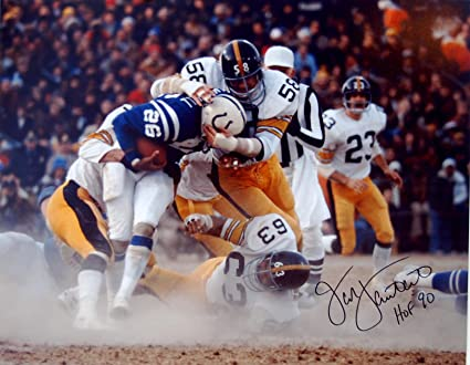 7b098dfbd Jack Lambert Autographed 16x20 Photo - Autographed NFL Photos at Amazon s  Sports Collectibles Store