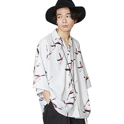 (アンリラクシング) Unrelaxing フラミンゴ柄アロハシャツ 総柄開襟シャツ UR-527