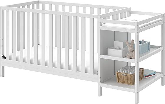White Storkcraft Pacific Convertible Crib