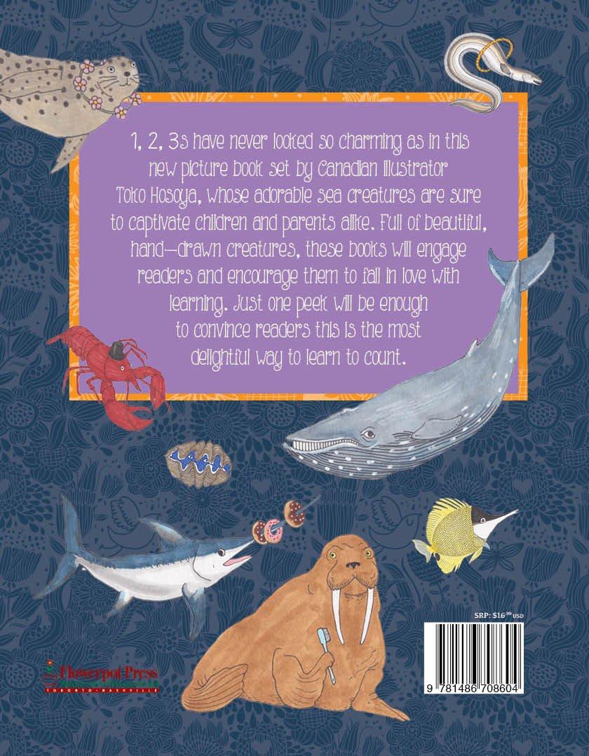 1,2,3 Sea Creatures: Amazon ca: Flowerpot Press, Toko Hosoya