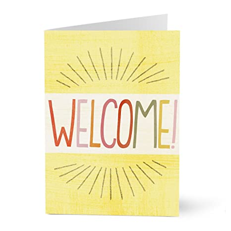 Amazon hallmark business welcome card for employees burst of hallmark business welcome card for employees burst of welcome pack of 25 greeting m4hsunfo