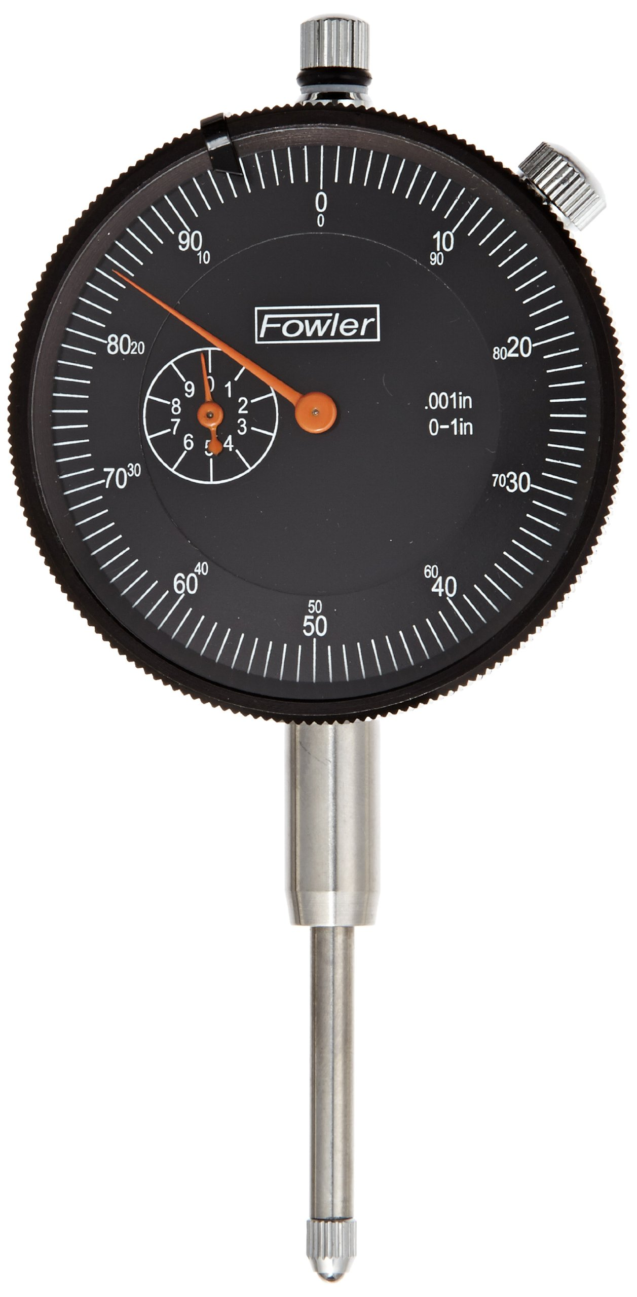 Fowler 52-520-109 AGD Dial Indicator, Black Face, 1'' Travel, 2.25'' Diameter