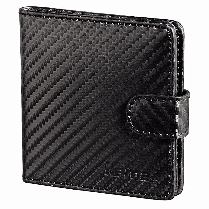 Hama Vegas - Funda archivadora para tarjetas de memoria SD/microSD (tamaño S), color negro