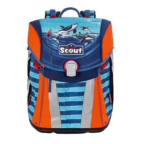 Scout 137351509 Mochila Azul, Naranja mochila escolar - mochilas escolares (Mochila, Niño,