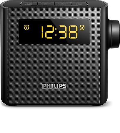 Philips AJ4300B/12 Reloj Negro - Radio (Reloj, FM, 87,5