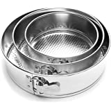 Fox Run 4560 Springform Pan Set, Tin-Plated Steel, 3-Piece