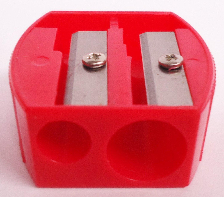 DUAL PENCIL SHARPENER EYE-LINER SHARPENER/EYEBROW PENCIL SHARPENER(RED) Other