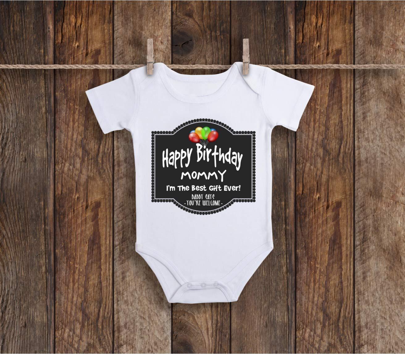 Amazon Funny Happy Birthday Mommy Baby Bodysuit For Sassy Sarcastic Farm Animals Lover Zoo Handmade
