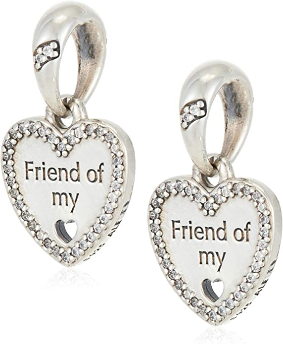 Girls Night Out Charm Friend Charm PS4207LC Friends Cham Girls Charm Heart Charm Sterling Silver