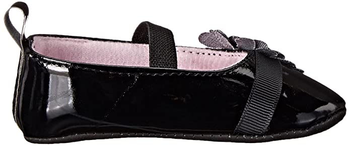 Little Me Maryjane Patent PU With Gem Mary Jane (Infant), Black, 9-12 Months M US Infant