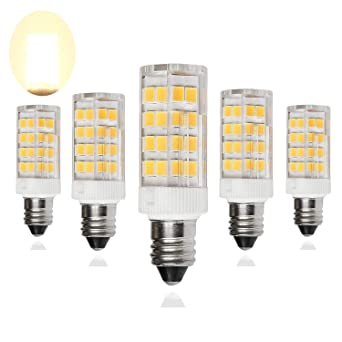 Bombilla LED E11 regulable, base de candelabro mini, 5 W, bombillas halógenas de