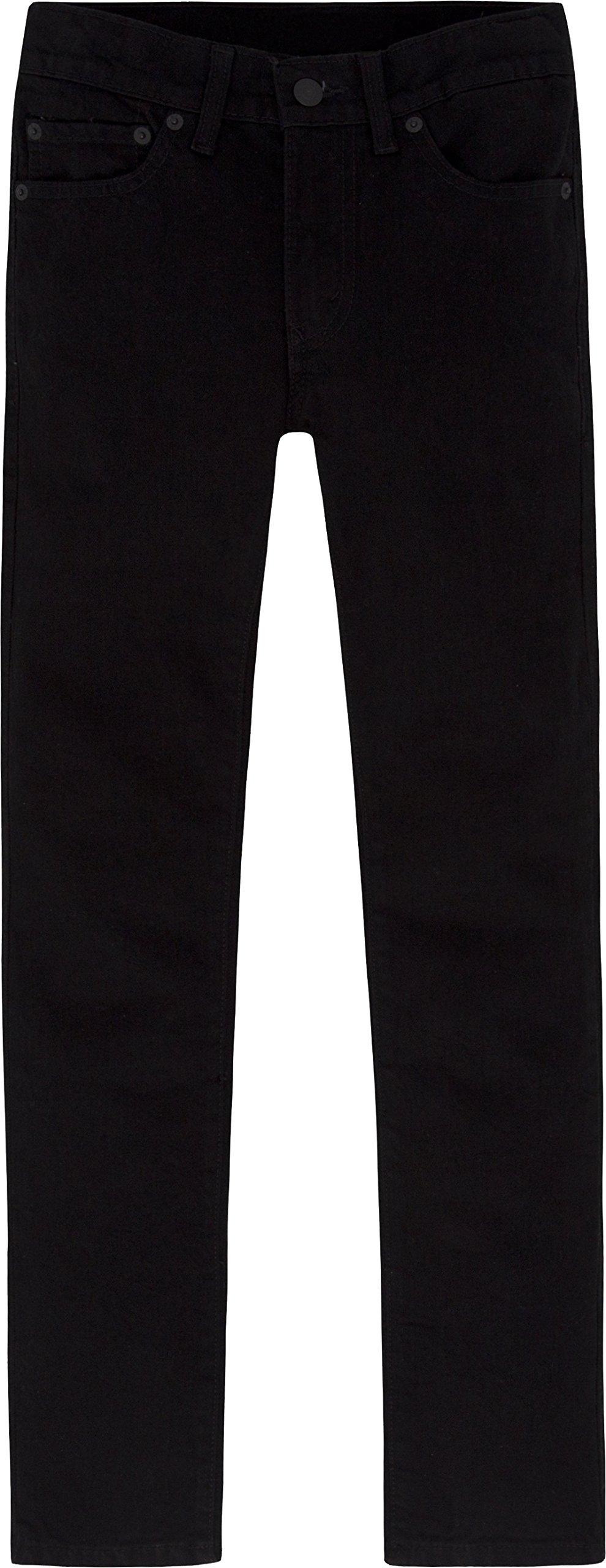 Levi's Boys 8-20 510 Super Skinny Fit Jean, BLACK STRETCH, 12 Regular