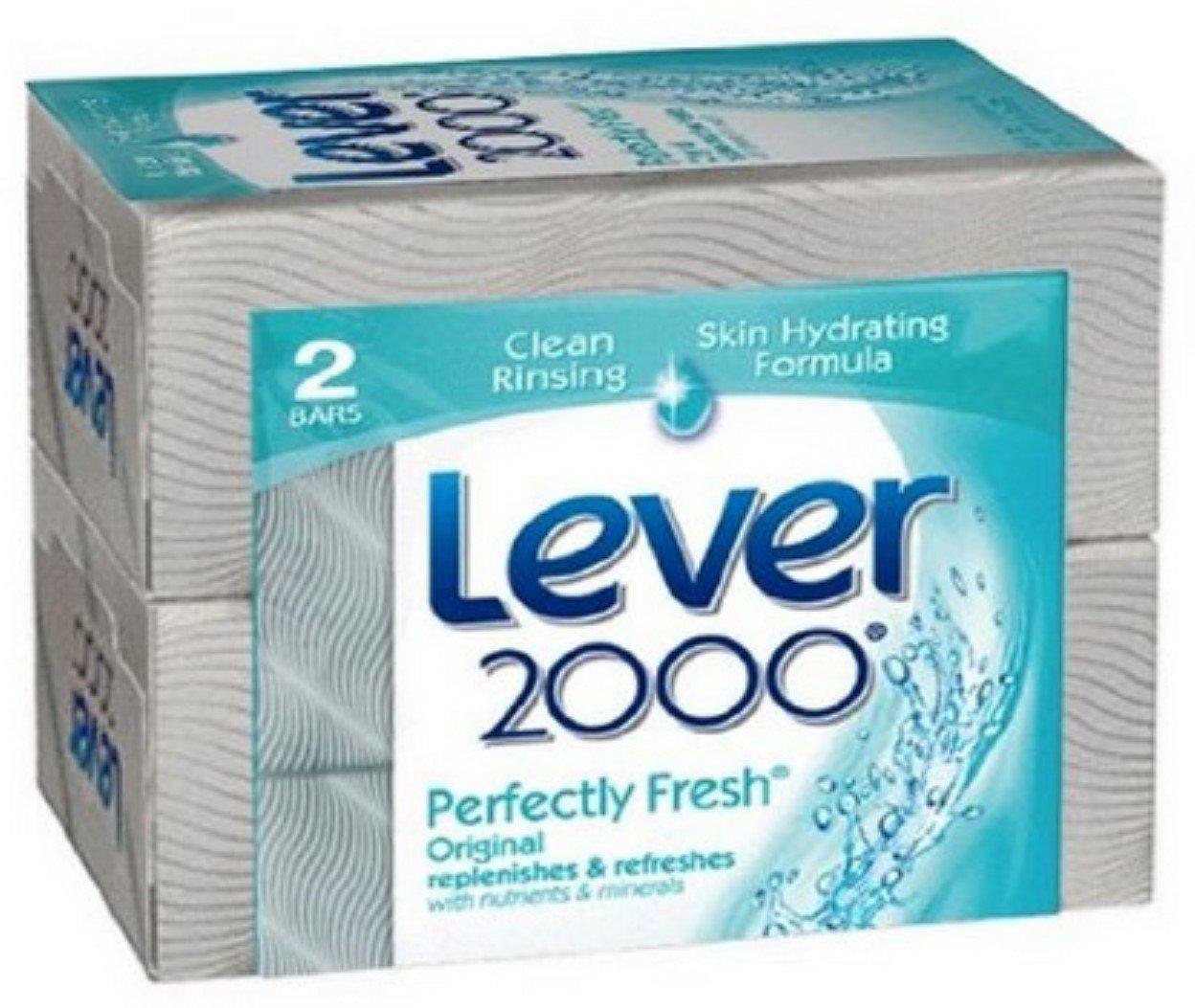 Lever 2000 Original Refreshing Bar Soap, 4.5 oz bars, 2 ea (Pack of 5)