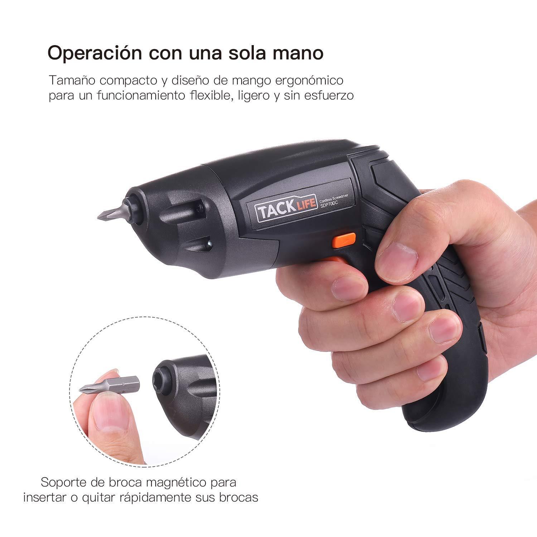 Oferta Destornillador Eléctrico Tacklife SDP70DC por 17,99 euros (Cupón Descuento) 2 destornillador eléctrico tacklife
