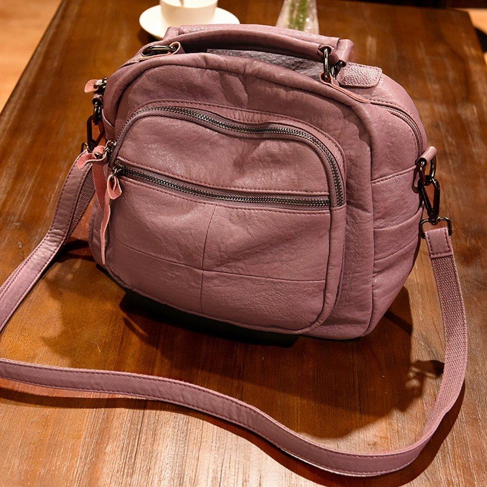 YTTY Version des Trends der Weichen Leder-Umhängetasche Große Handtasche Messenger Bag Weibliche Paket, Lila