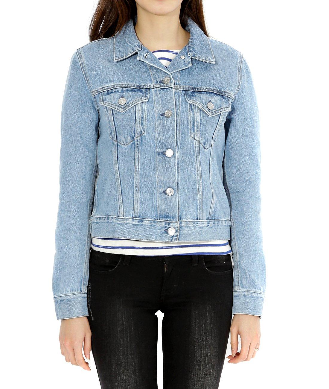 Wiberlux Acne Top Mid Vtg Women's Short Vintage Denim Jacket 34 Blue