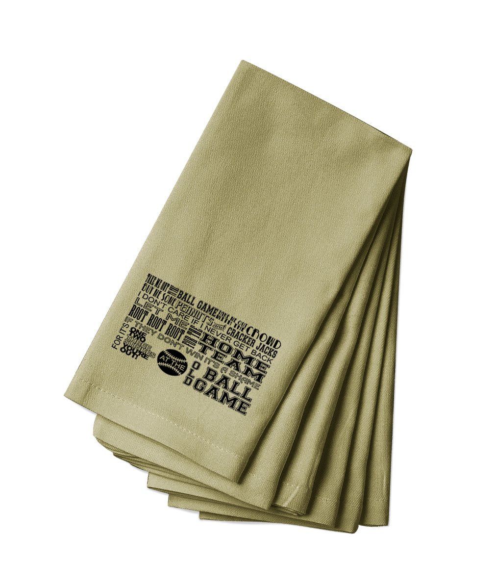 Style in Print Cotton Canvas Dinner Napkin Set Of 4 Old Ball Game, Baseball By