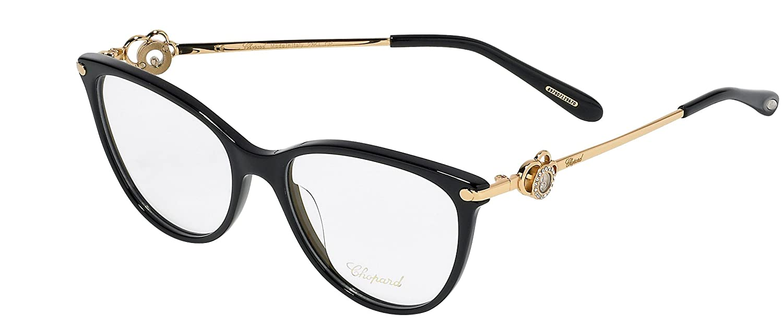 Chopard Gafas de Vista VCH238S SHINY BLACK mujer: Amazon.es ...