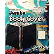 "Jumbo Book Cover - Black Color Premium Edition Super Stretch XXL - Fits 10"" X 15"" Textbooks - by It's Academic"