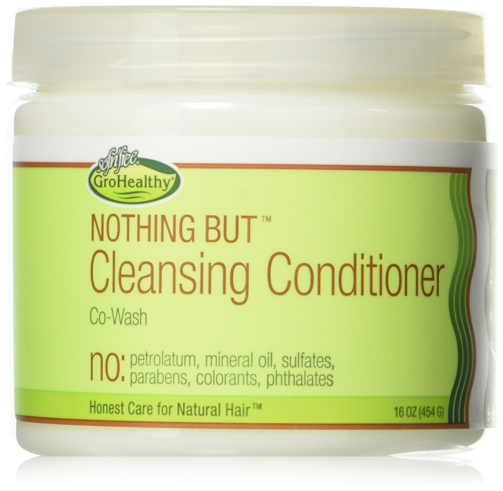 Sof N Free Gro Healthy Nothing But Cleansing Conditioner, 16 Ounce
