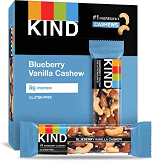 product image for KIND Bars, Blueberry Vanilla & Cashew, Gluten Free, Low Sugar, 1.4oz, 12 Count