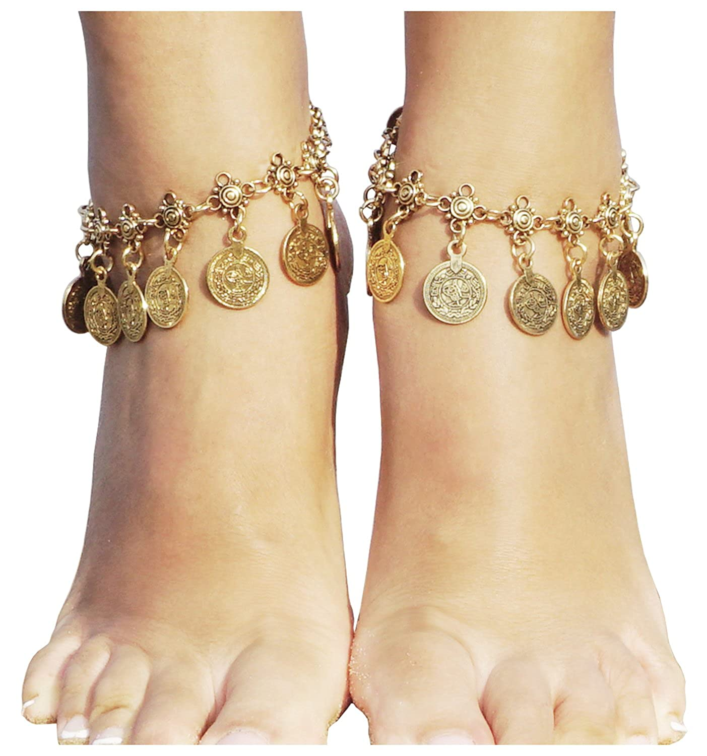 at bracelet jewelry products gold fine link anklet yellow heart anklets cfm detail palmbeach ankle