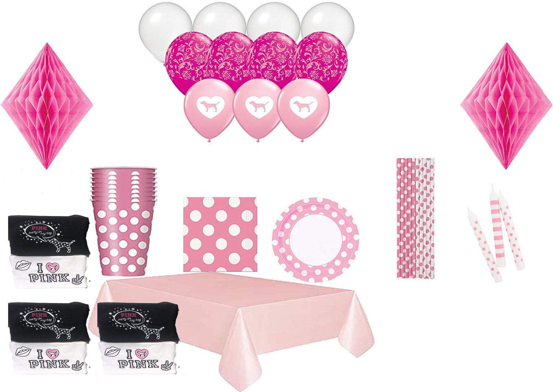 Set of 5 VS Pink Stripe Chip Bags