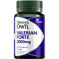 Nature's Own Valerian Forte 2000mg - Relaxant for Mild Anxiety - Provides Insomnia Relief - Calms the Nerves, 30 Capsules