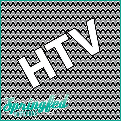 CHEVRON PATTERN #3 HTV Distressed Black /& Grey Heat Transfer Vinyl 12x14 Chevron Stripes for Shirts