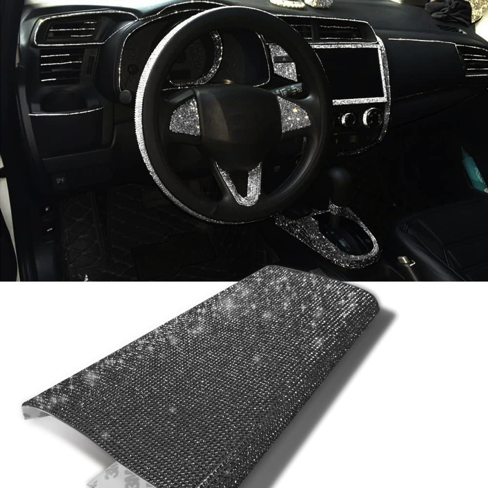 Black YGMONER 9000pcs Bling Crystal Rhinestone 9.4 x 7.9 DIY Car Decoration Sticker