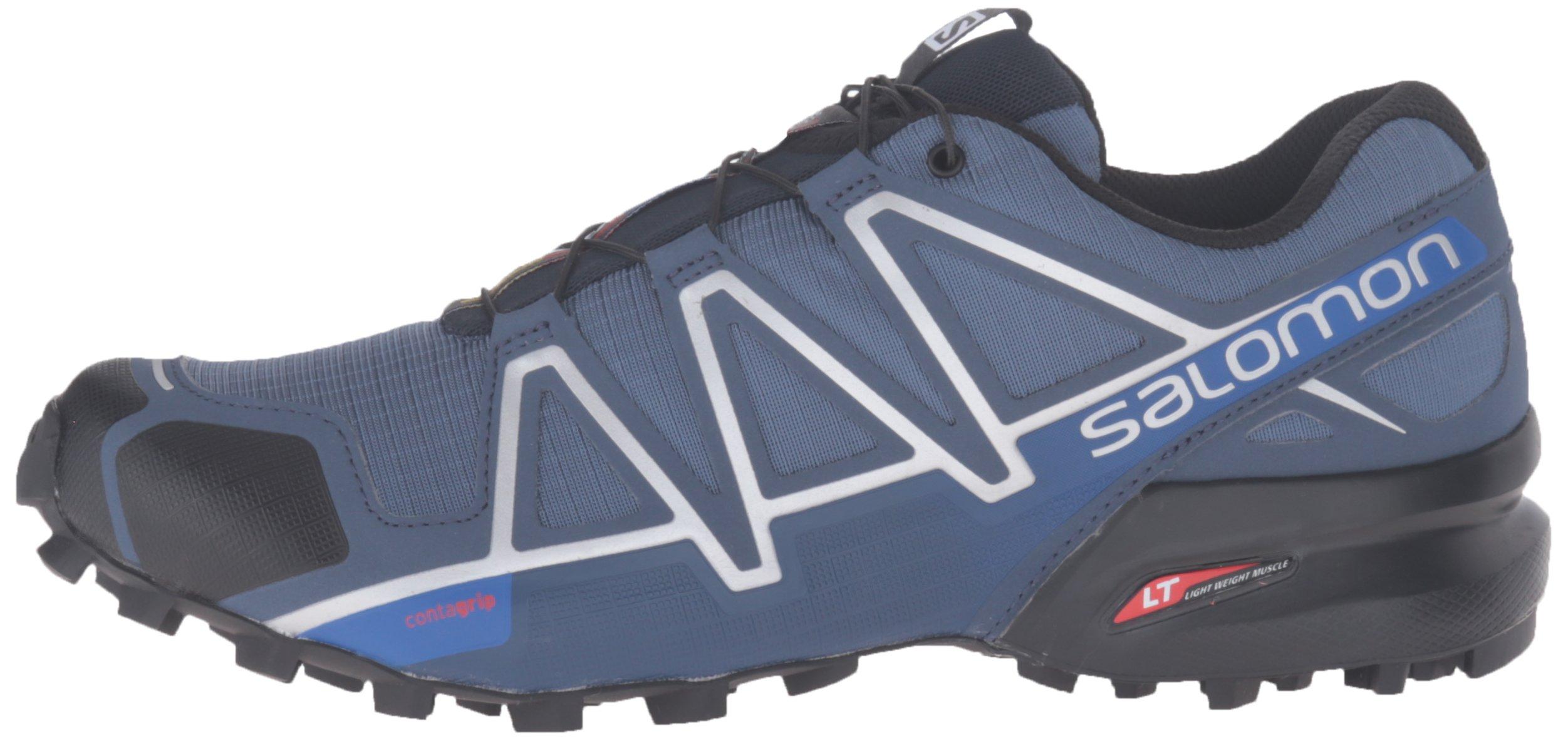 Salomon Men's Speedcross 4 Trail Runner, Slate Black/Blue Yonder, 7 D US by Salomon (Image #5)