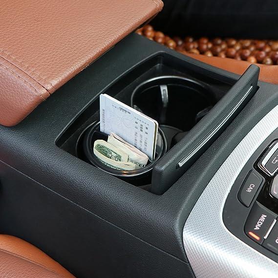 OurLeeme Mini Voiture Bo/îte de Rangement Porte-Organisateur avec Coins Cartes cl/és Fente