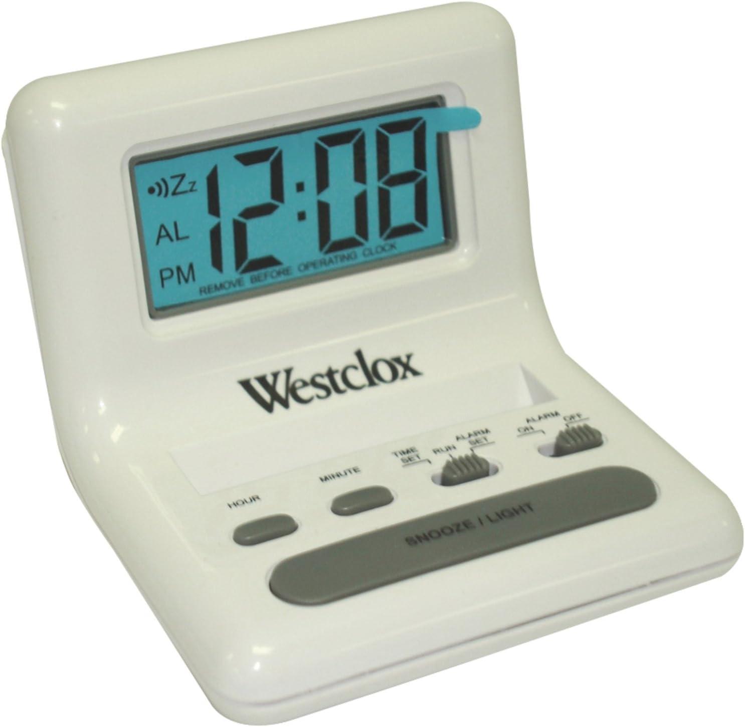 White Westclox 47539 Celebrity Glo-Clock
