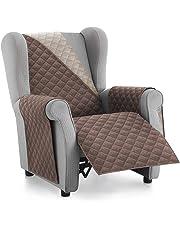 Textilhome - Funda Cubre Sofá Malu -1,2 3 4 Plazas - Relax - Protector para Sofás Acolchado Reversible.