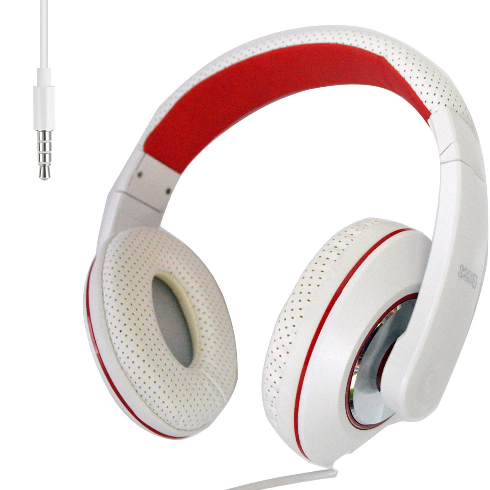 3.5mm Stereo Headband Headphone With Microphone for Cell Phone Laptop Tablets Computer PC MP3/4