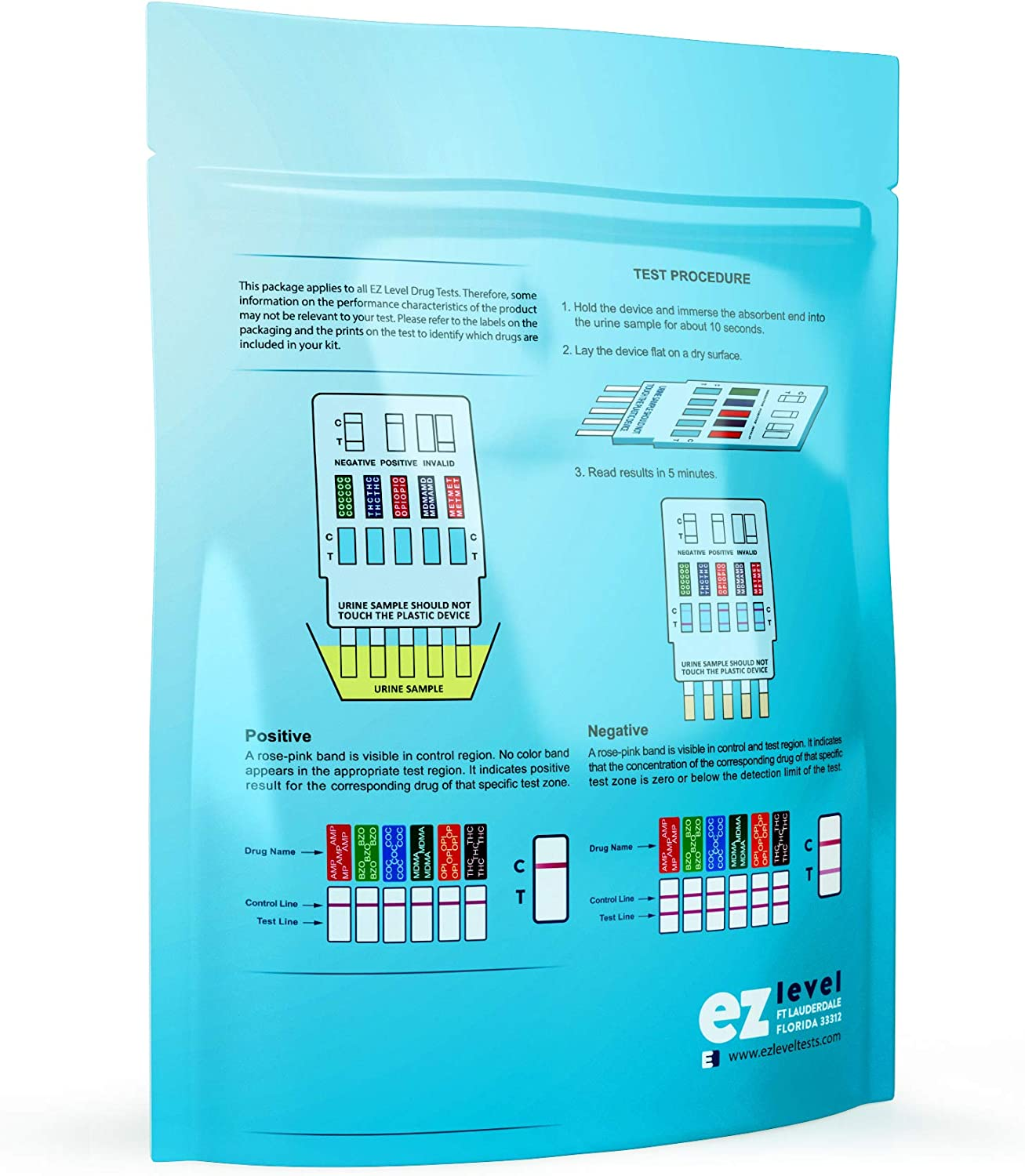 Amazon Com Ez Level 12 Panel Urine Multi Drug Test Kit 3 Count Health Personal Care