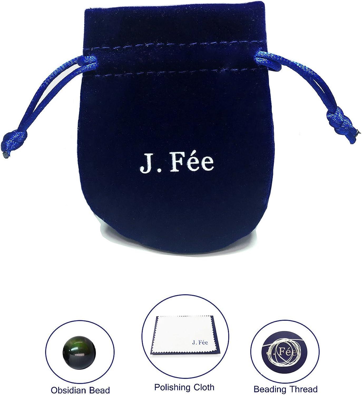 J.F/ée Perles De Pierres Pr/écieuses Bracelet Bracelet en Cristal 8mm Perle Ronde Semi Pr/écieux Bracelet /Élastique Cadeau danniversaire Unisexe Saint Valentin F/ête des M/ères