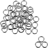 Housweety 500 Stainless Steel Open Jump Rings 7mm Dia. Findings