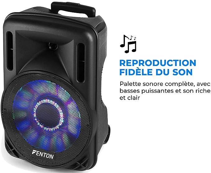 Altavoz a bateria Fenton FT10LED Bafle Activo 10 400 w musicales
