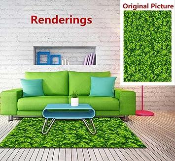 Yyh 3d Boden Aufkleber Rechteck Grüne Wiese Simulation Teppich