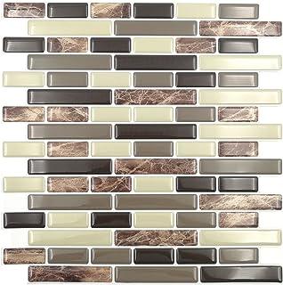 Amazoncom Peel Stick Tiles 15 Ft Backsplash Kit Rome Home