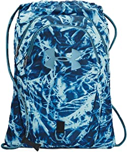 Under Armour Adult Undeniable 2.0 Sackpack , Black (007)/Blue Flannel , One Size Fits All