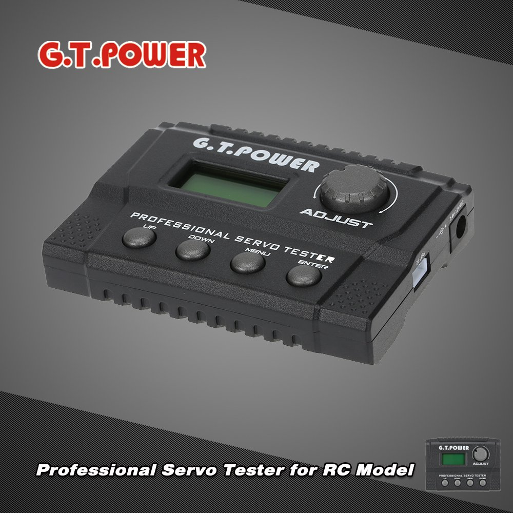 Mobiliarbus G.T.POWER Professional Servo Tester for RC Aircraft Helicopter Car Servo