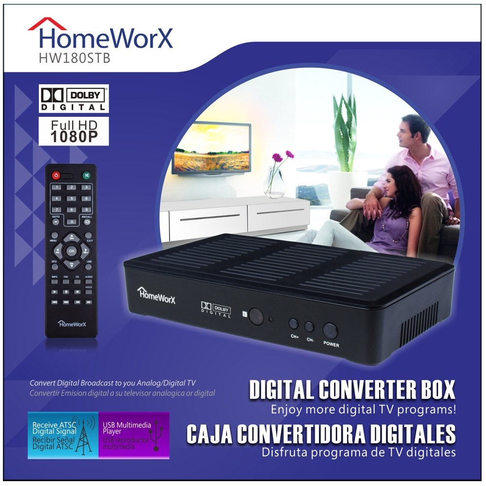Amazon.com Mediasonic HW180STB HomeWorx HDTV Digital Converter Box with Media Player Function Dolby Digital and HDMI Out (Old Version) Electronics  sc 1 st  Amazon.com & Amazon.com: Mediasonic HW180STB HomeWorx HDTV Digital Converter ... Aboutintivar.Com