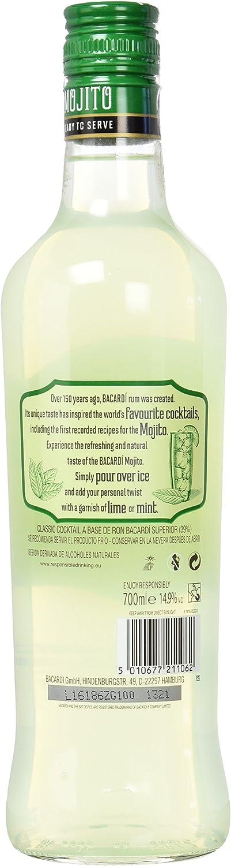 Bacardi Mojito Classic - 70 cl: Amazon.es: Alimentación y bebidas