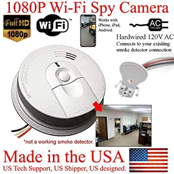 Amazon.com: SecureGuard 1080P HD Smoke Detector WiFi Spy ...